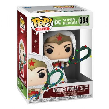 Funko Pop! Vinyl DC Comics Holiday Wonder Woman with String Light Lasso Figure - Pre-Order